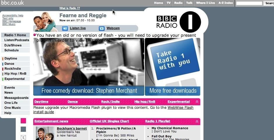 2007 Webby Winner - BBC Radio 1