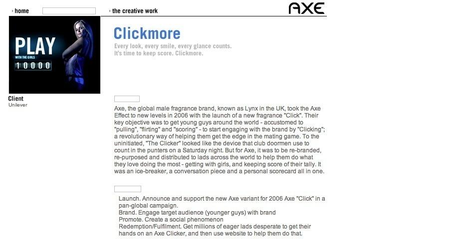 Webby Award Nominee - Clickmore
