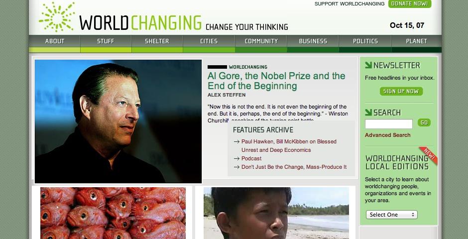 Nominee - Worldchanging