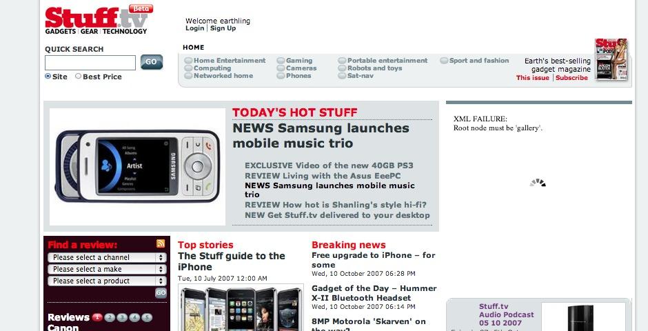 Nominee - Stuff Magazine Website