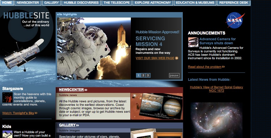People's Voice / Webby Award Winner - HubbleSite