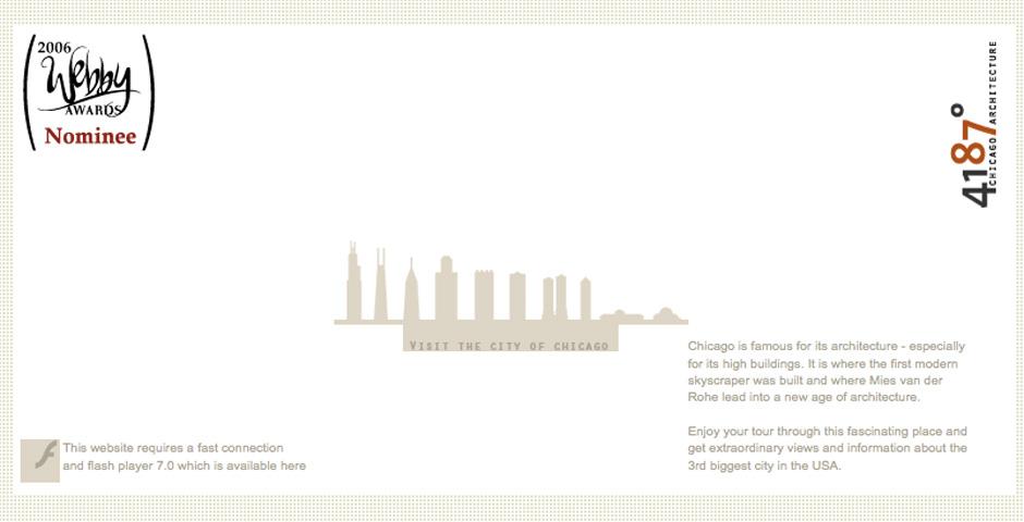 Webby Award Winner - 4187° – Chicago Architecture