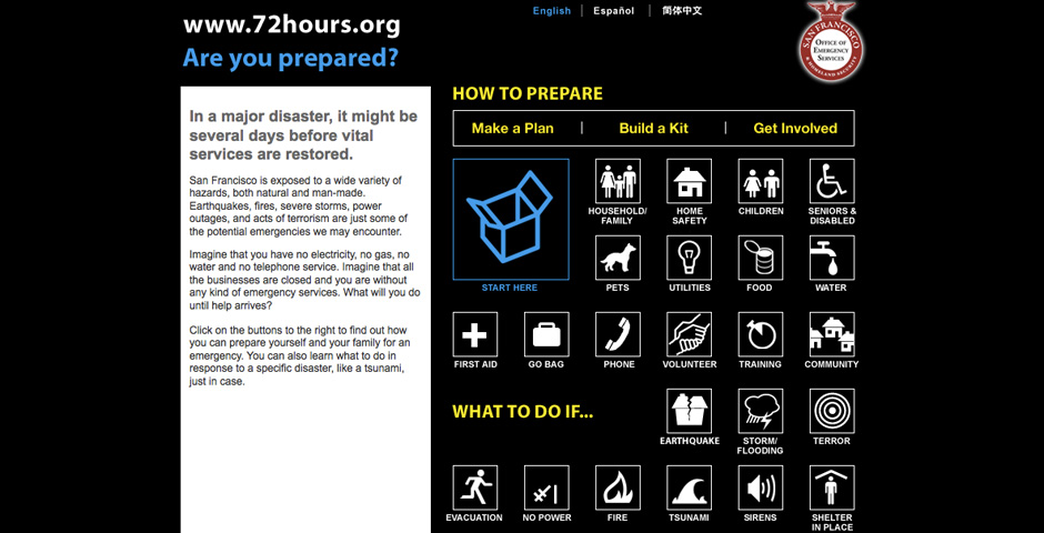 Webby Award Winner - 72hours.org