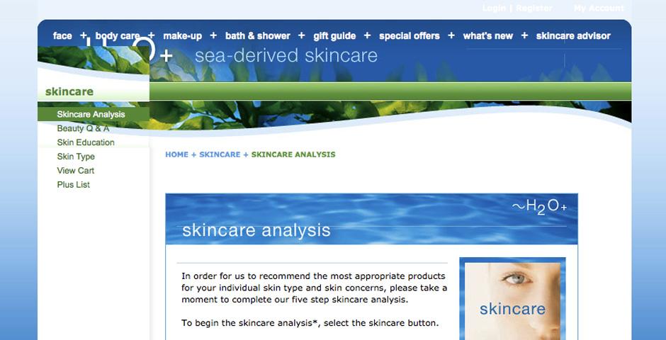 Nominee - H2O Plus Retail Site