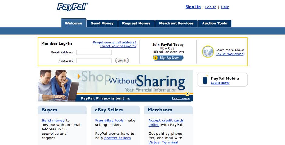 2005 Webby Winner - PayPal