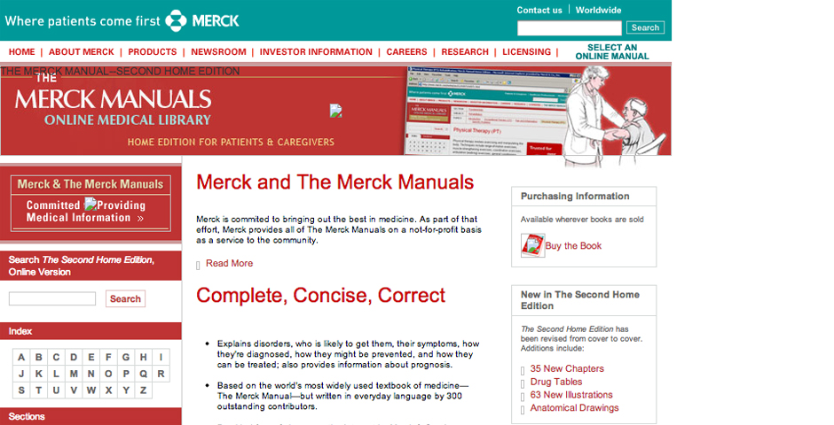 Nominee - The Merck Manual: Second Home Edition Online