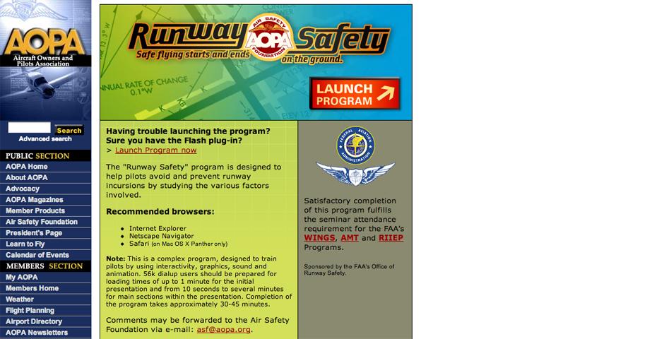 Nominee - AOPA Runway Saftey Program