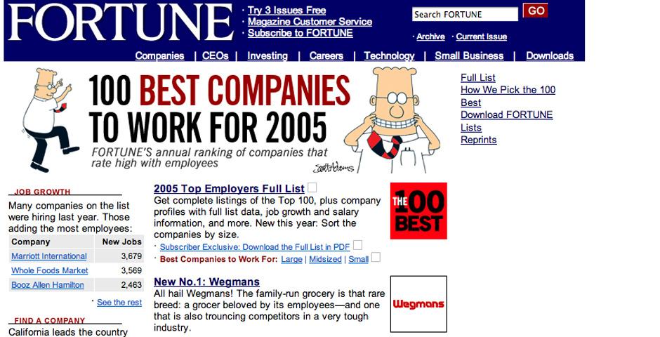 2005 Webby Winner - Fortune