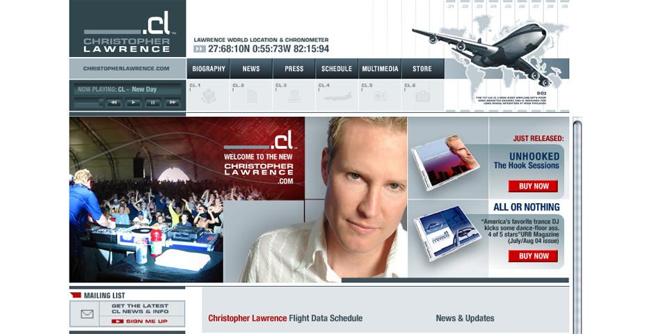 Webby Award Nominee - Christopher Lawrence Website