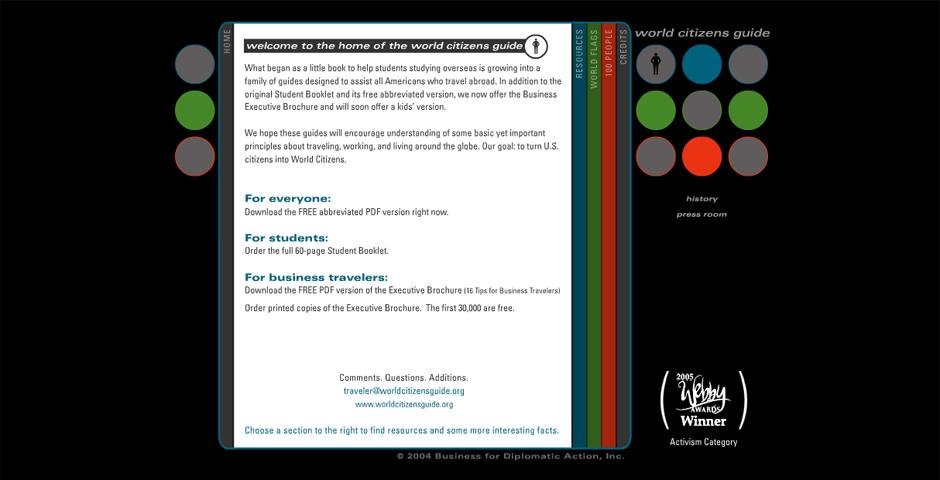 Webby Award Winner - World Citizen's Guide