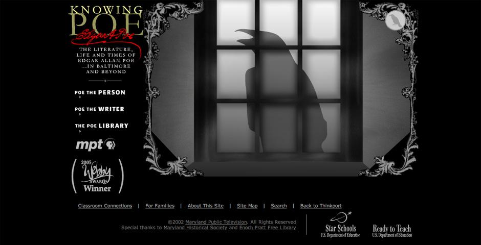 2005 Webby Winner - Knowing Poe
