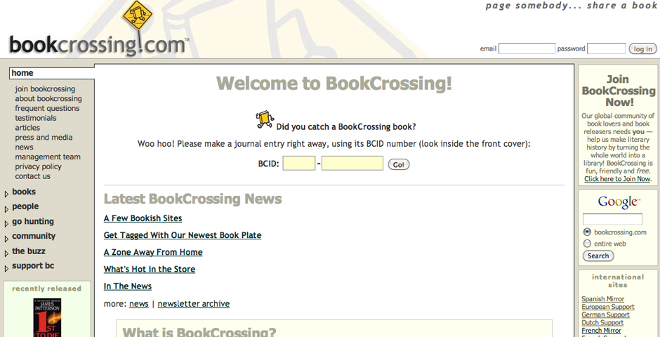 People's Voice - BookCrossing: Read and Release!