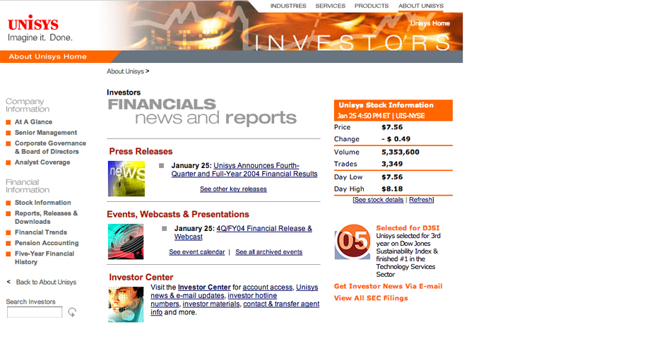 Nominee - Unisys Investor Relations