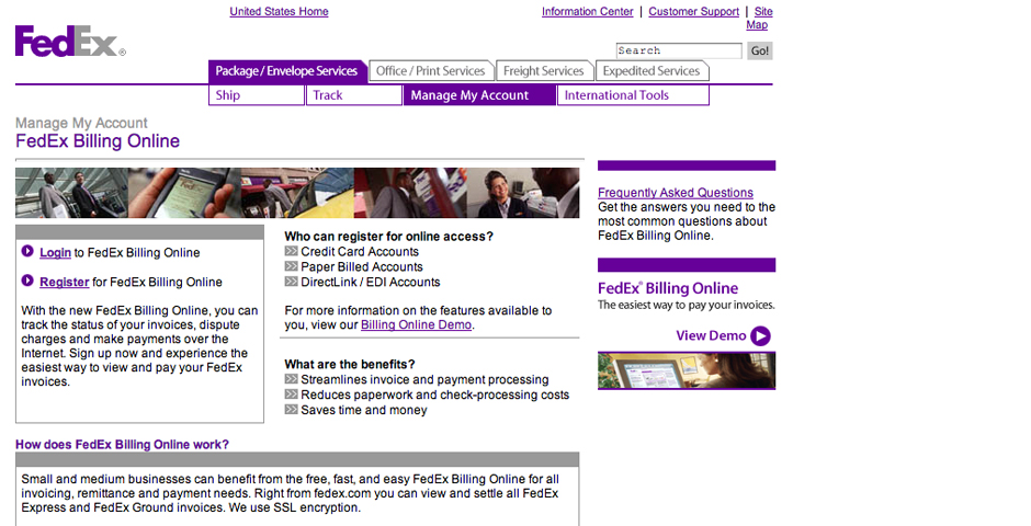 Nominee - FedEx Billing Online