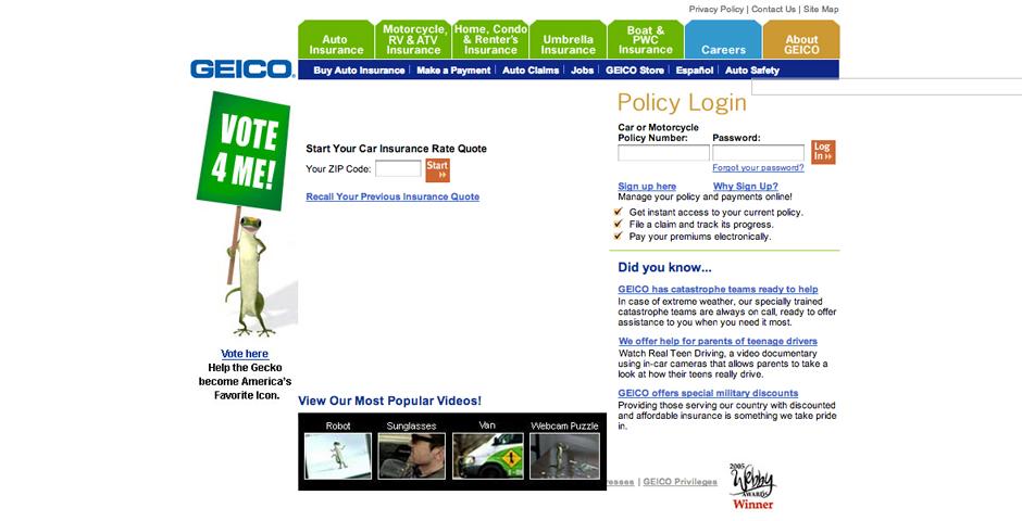 Webby Award Winner - GEICO Redesign