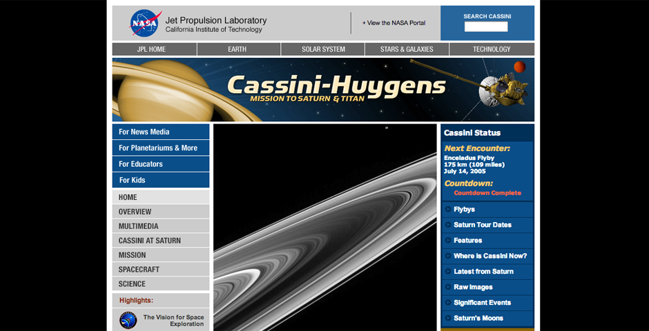Nominee - Cassini Mission to Saturn