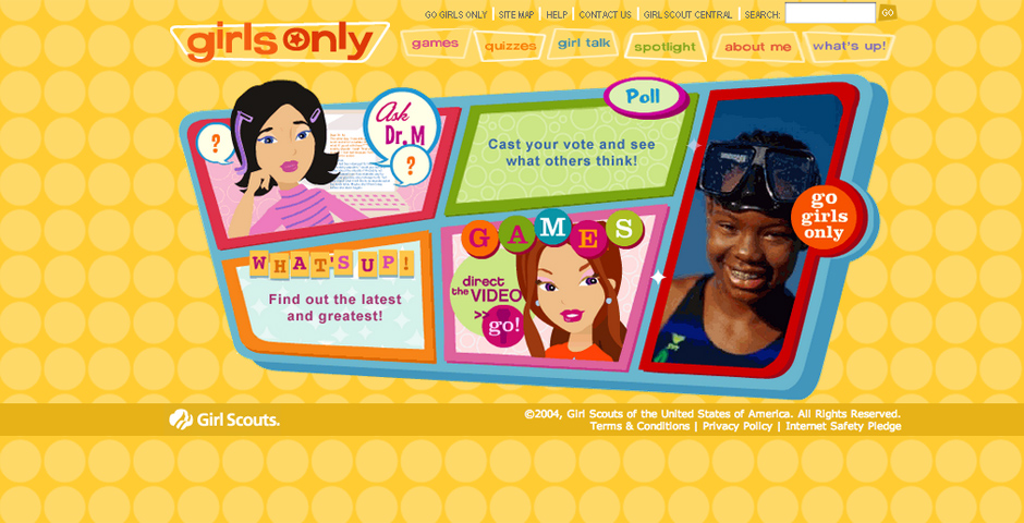 Nominee - Girl Scouts Girls Only Website
