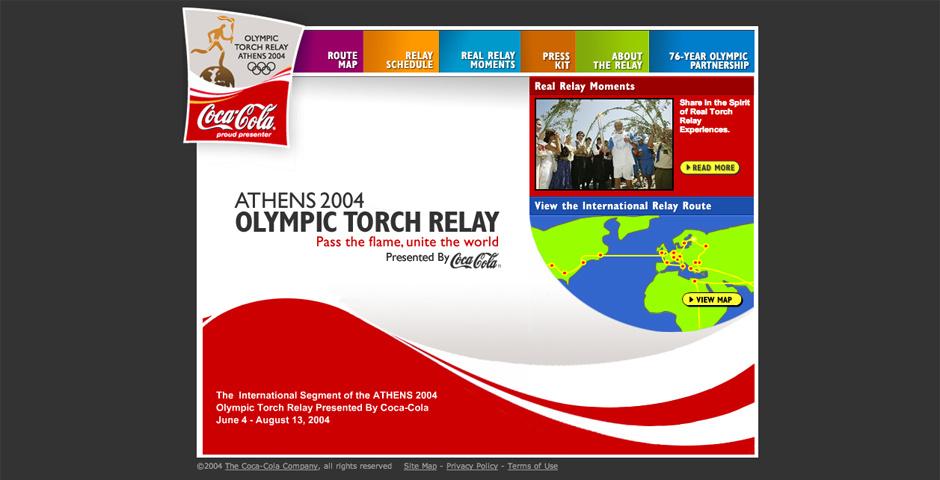 Webby Award Nominee - Coca-Cola Olympic Torch Relay