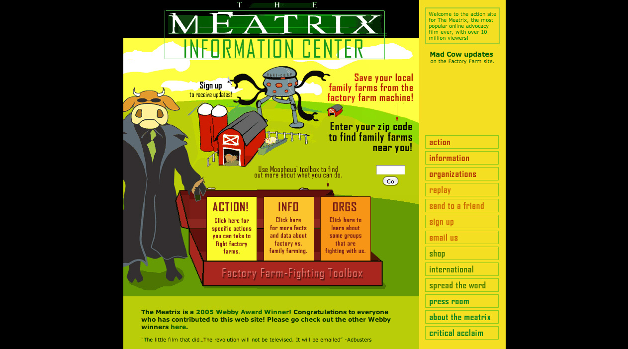 Webby Award Winner - The Meatrix