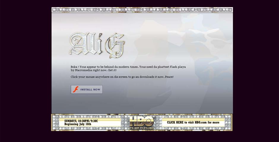 Nominee - HBO : Ali G  micro site