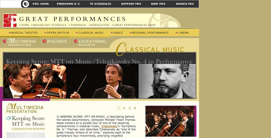 Webby Award Nominee - Keeping Score: MTT on Music