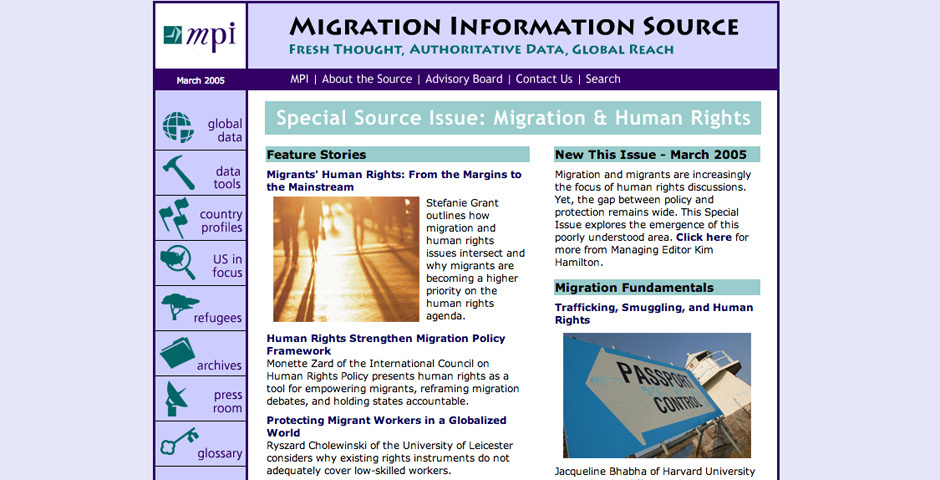 Webby Award Nominee - The Migration Information Source