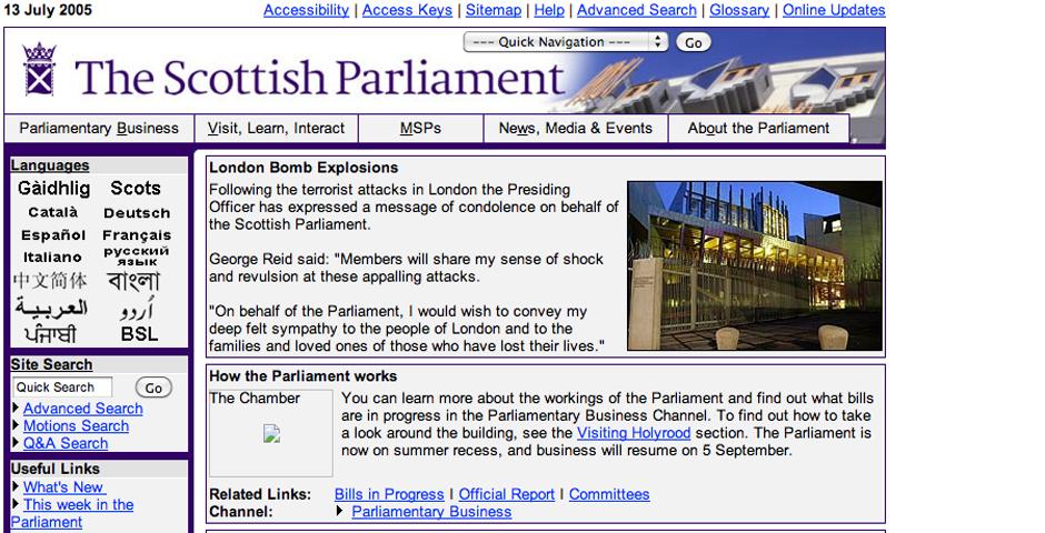 Nominee - Scottish Parliament