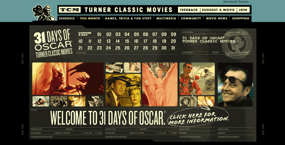 Nominee - Turner Classic Movies – 31 DAYS OF OSCAR 2004