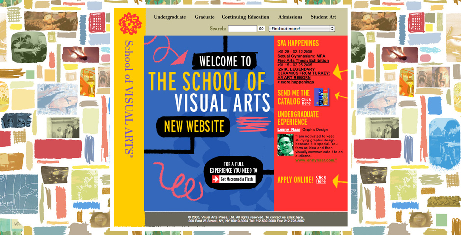 Webby Award Winner - School of Visual Arts Web site