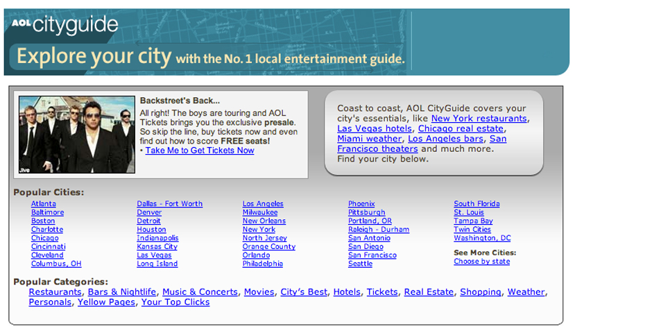 Nominee - AOL CityGuide