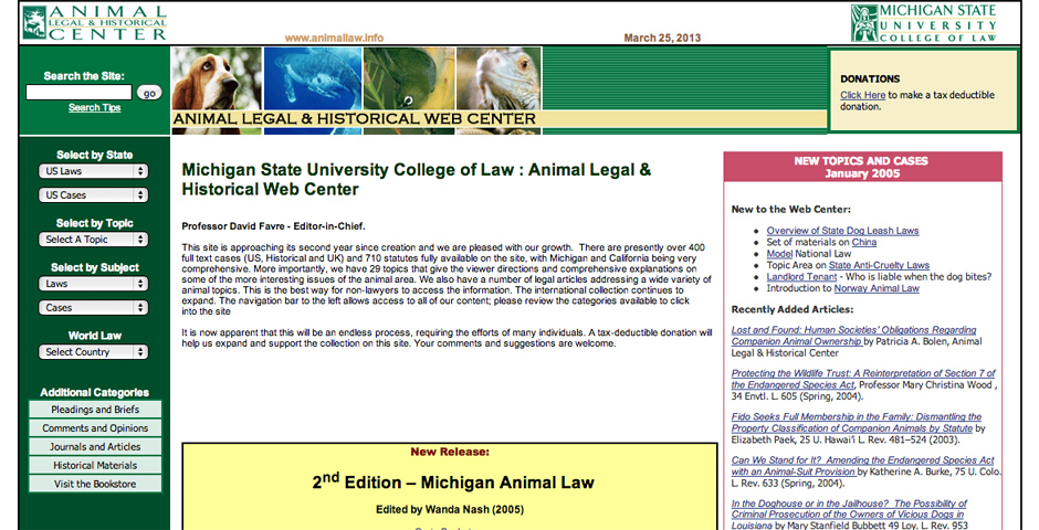 Nominee - Animal Legal & Historical Web Center