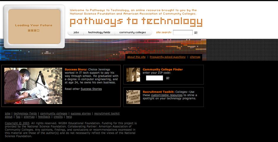Webby Award Nominee - Pathways to Technology
