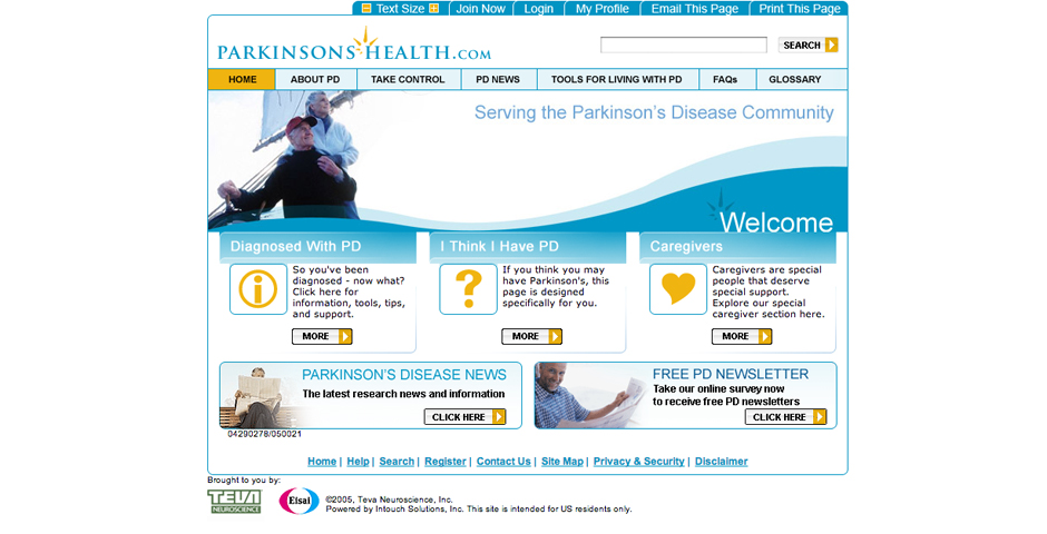 Webby Award Winner - ParkinsonsHealth.com