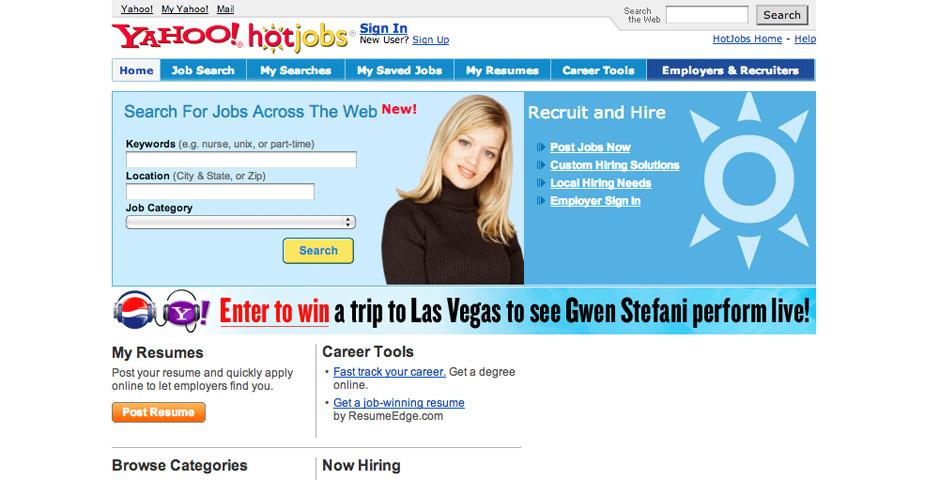 2005 Webby Winner - Yahoo! HotJobs