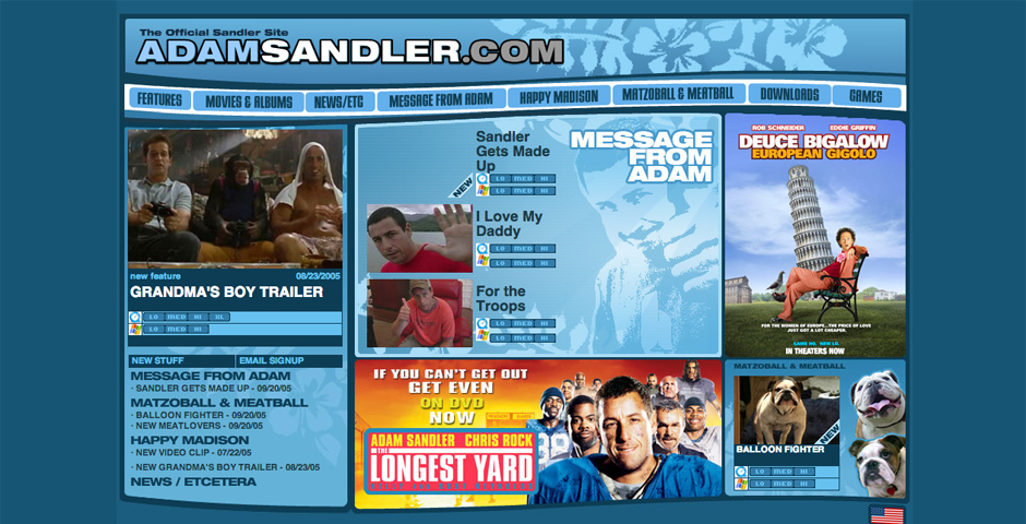 Nominee - Adam Sandler – Official Fan Site
