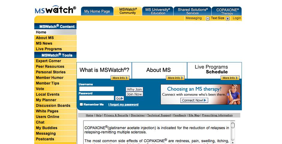 Webby Award Nominee - MSWatch Online Community