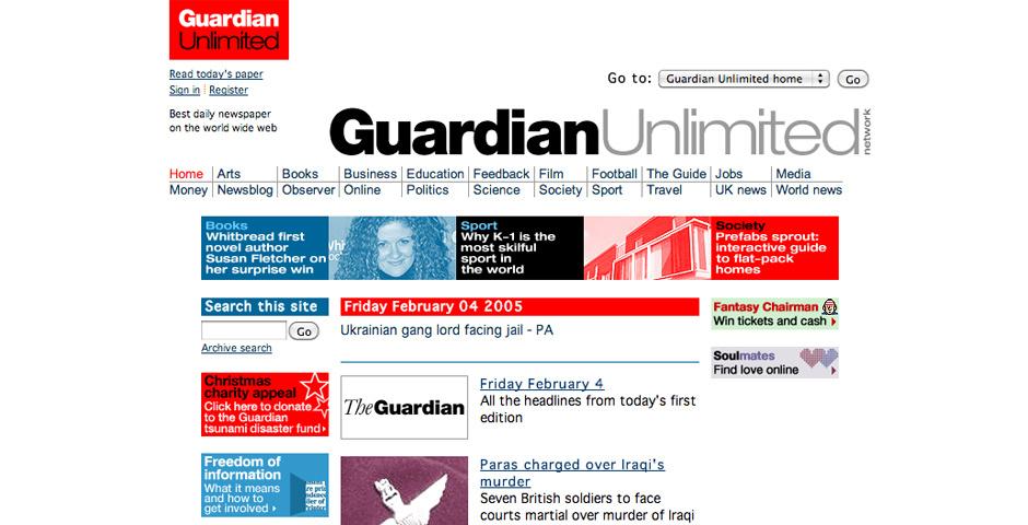 2005 Webby Winner - Guardian Unlimited