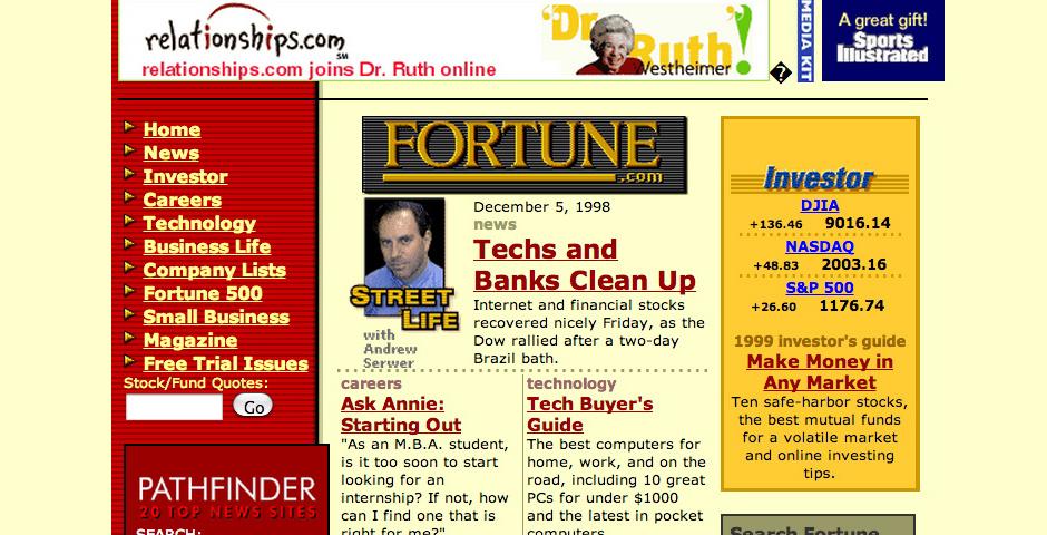 Webby Award Nominee - Fortune