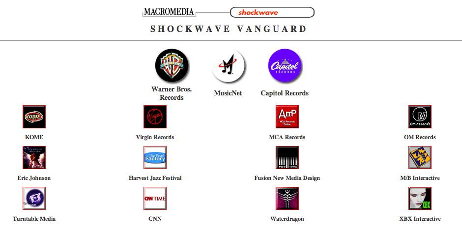 Nominee - Macromedia Shockwave Gallery