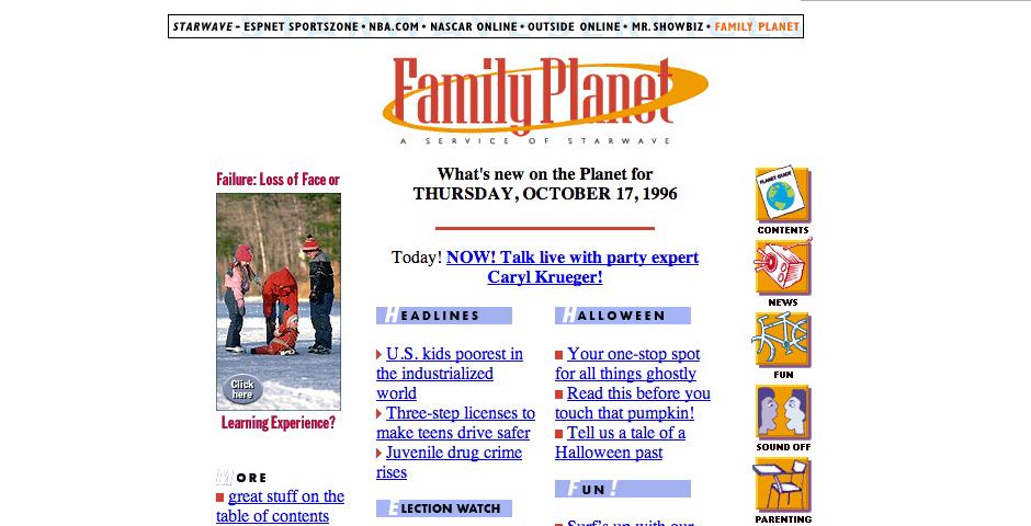 Webby Award Winner - Family Planet