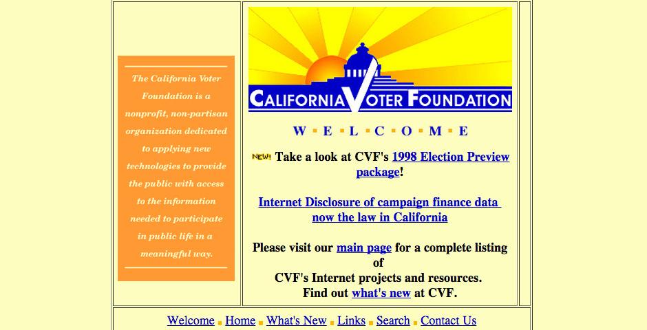 Webby Award Nominee - California Voter Foundation