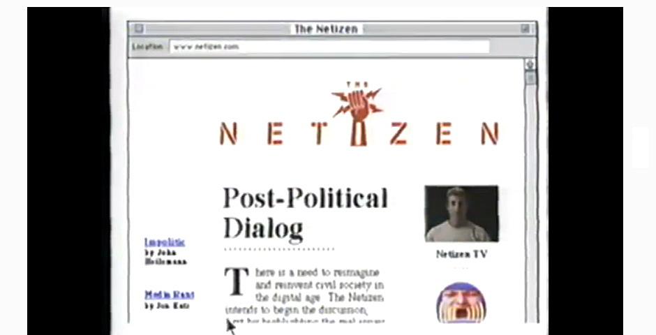1997 Webby Winner - The Netizen