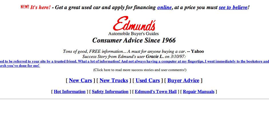 1997 Webby Winner - Edmund\'s Automobile Guide