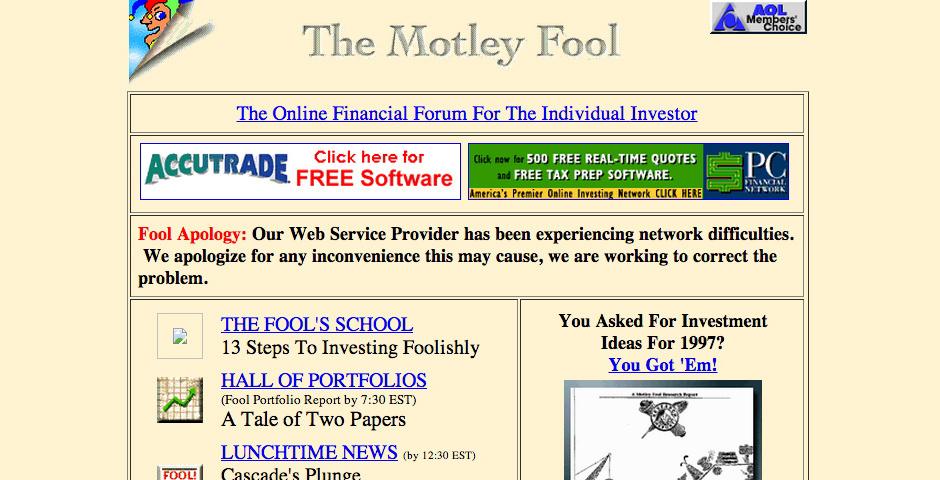 Webby Award Nominee - The Motley Fool