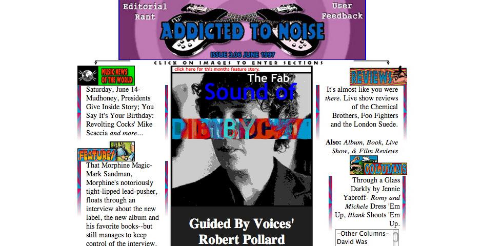 Webby Award Nominee - Addicted to Noise