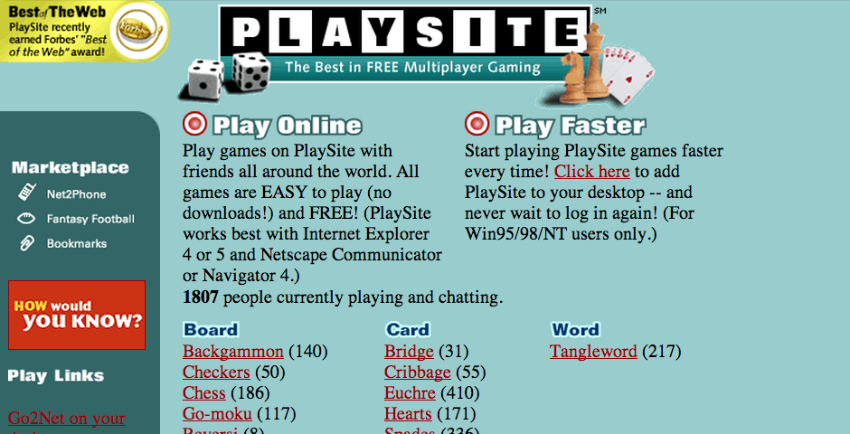 Nominee - PlaySite