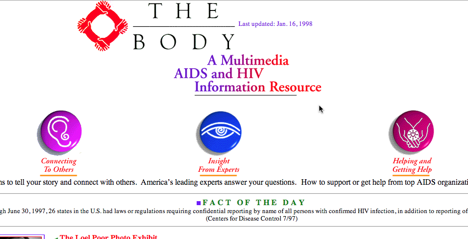 Nominee - The Body: A Multimedia AIDS and HIV Resource