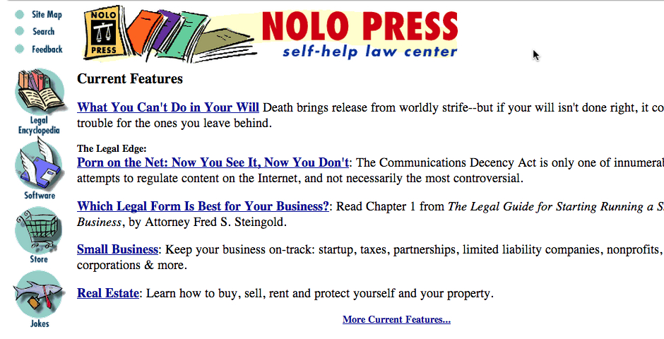 Nominee - Nolo press Self-Help Law Center