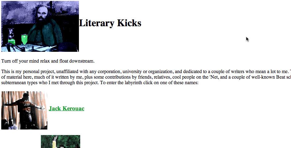 Webby Award Nominee - Literary Kicks