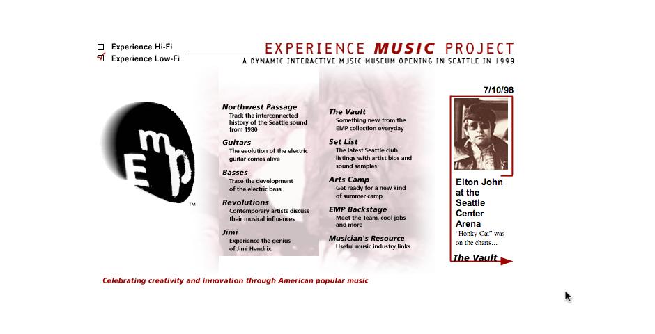 Webby Award Winner - Experience Music Project